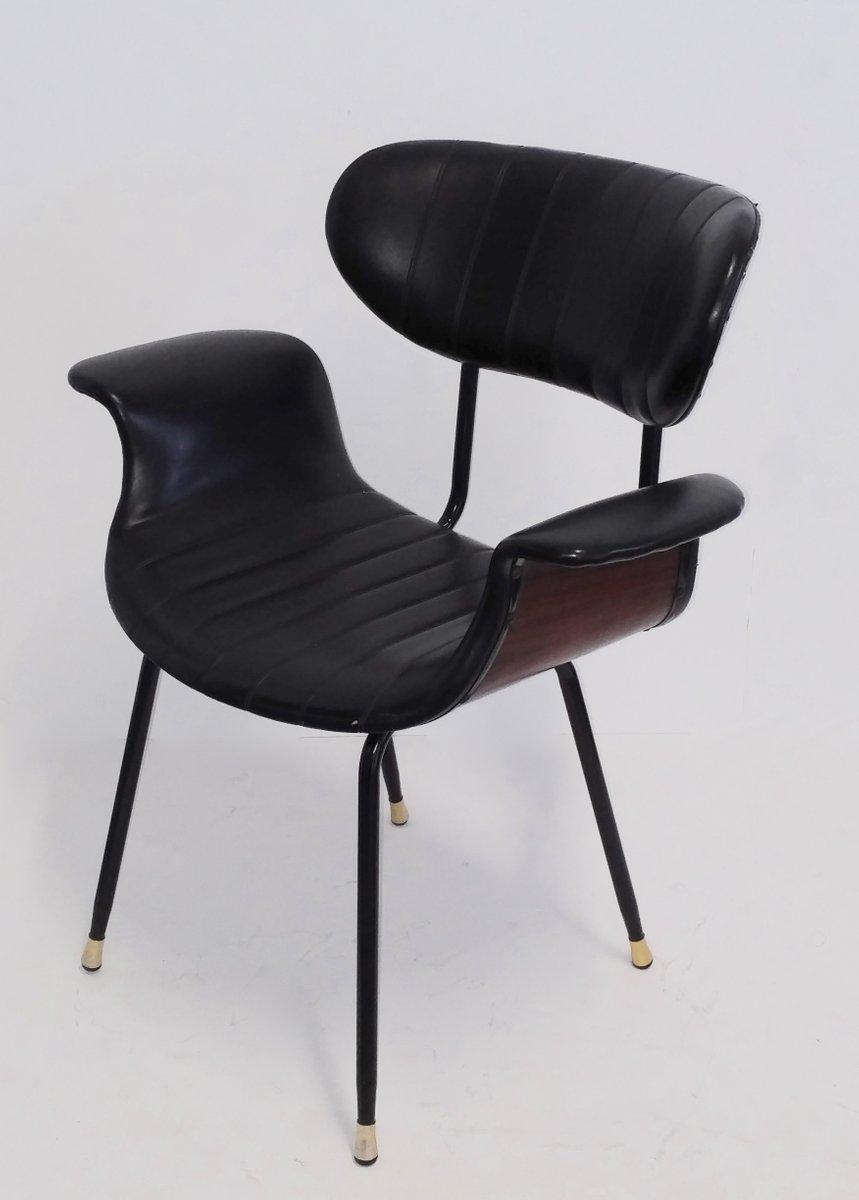 mid century stuhl aus palisander leder 1950er bei pamono kaufen. Black Bedroom Furniture Sets. Home Design Ideas