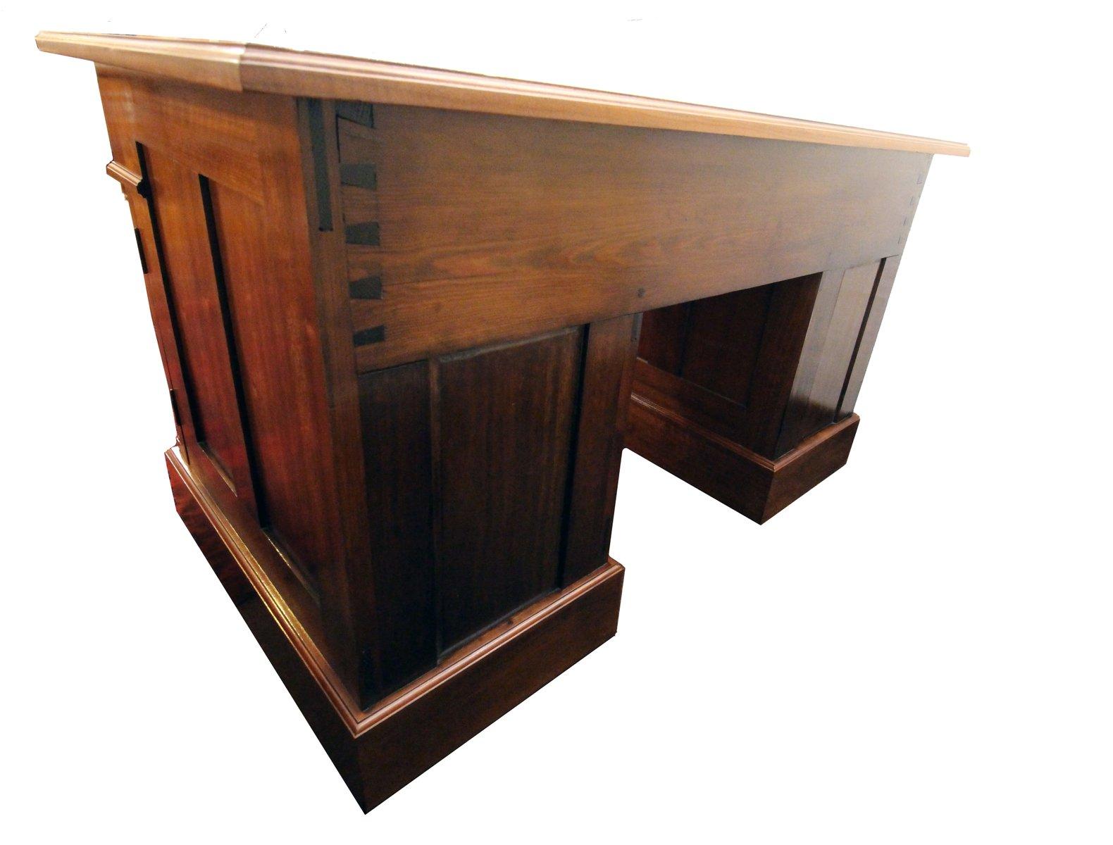 antiker jugendstil schreibtisch mit leder schreibauflage bei pamono kaufen. Black Bedroom Furniture Sets. Home Design Ideas