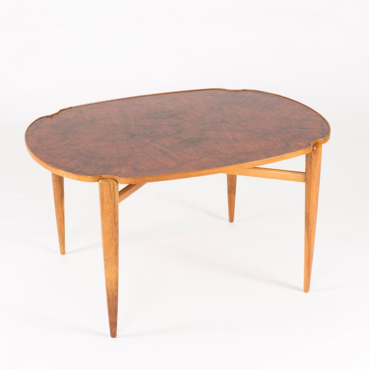 walnuss wurzelholz couchtisch von axel larsson f r hjalmar jackson 1940er bei pamono kaufen. Black Bedroom Furniture Sets. Home Design Ideas