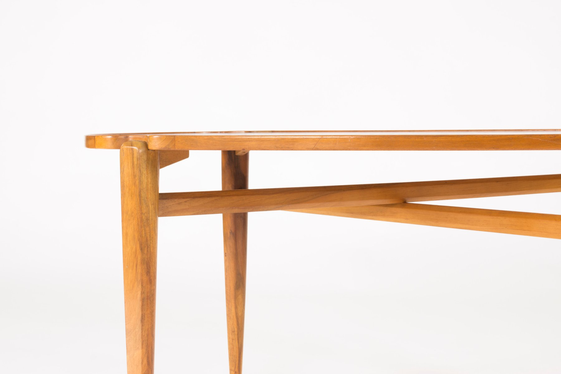 Walnut Root Coffee Table by Axel Larsson for Hjalmar Jackson