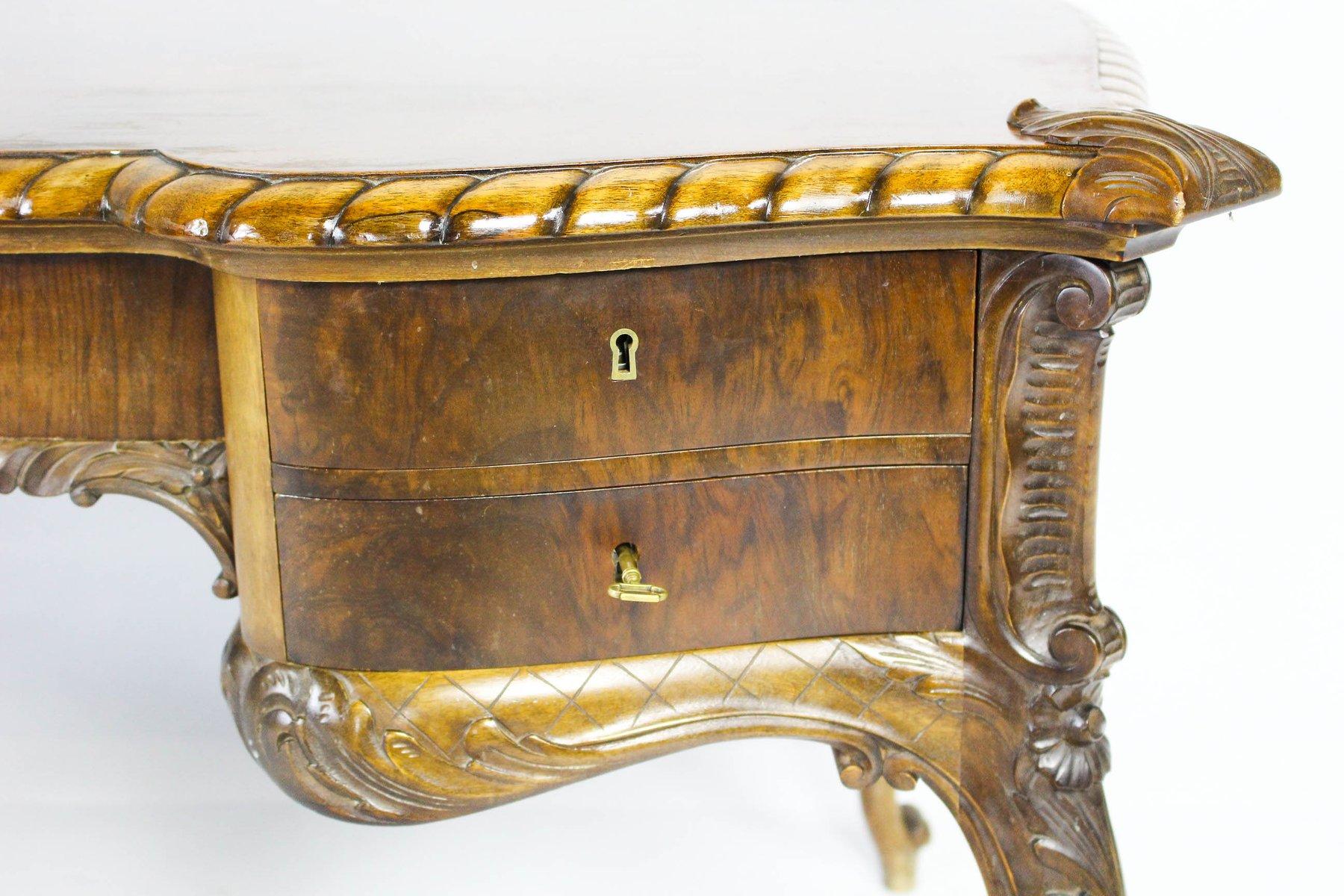 bureau double face vintage en bois en vente sur pamono. Black Bedroom Furniture Sets. Home Design Ideas