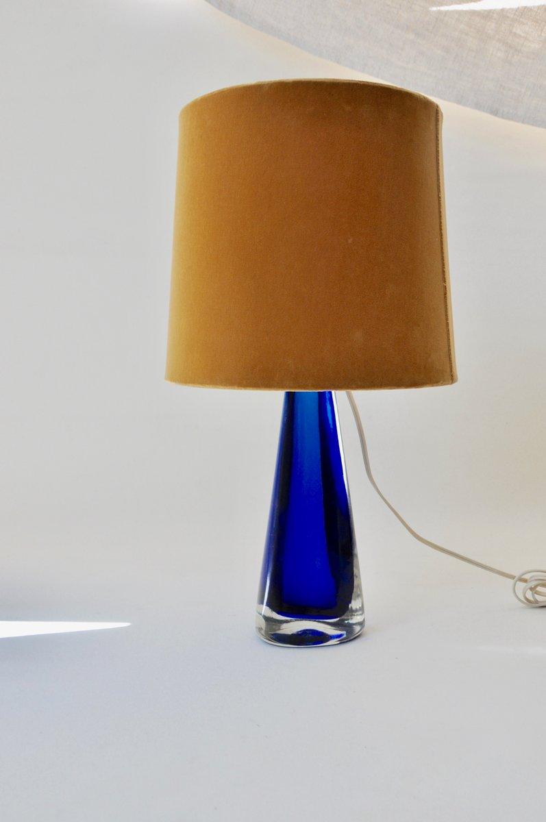 lampada da tavolo venini : Lampada da tavolo in vetro blu di Venini, anni '50 in ...