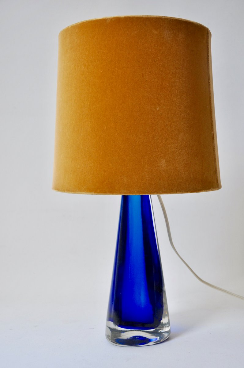 Beautiful Blue Glass Table Lamp From Venini, 1950s For Sale At Pamono