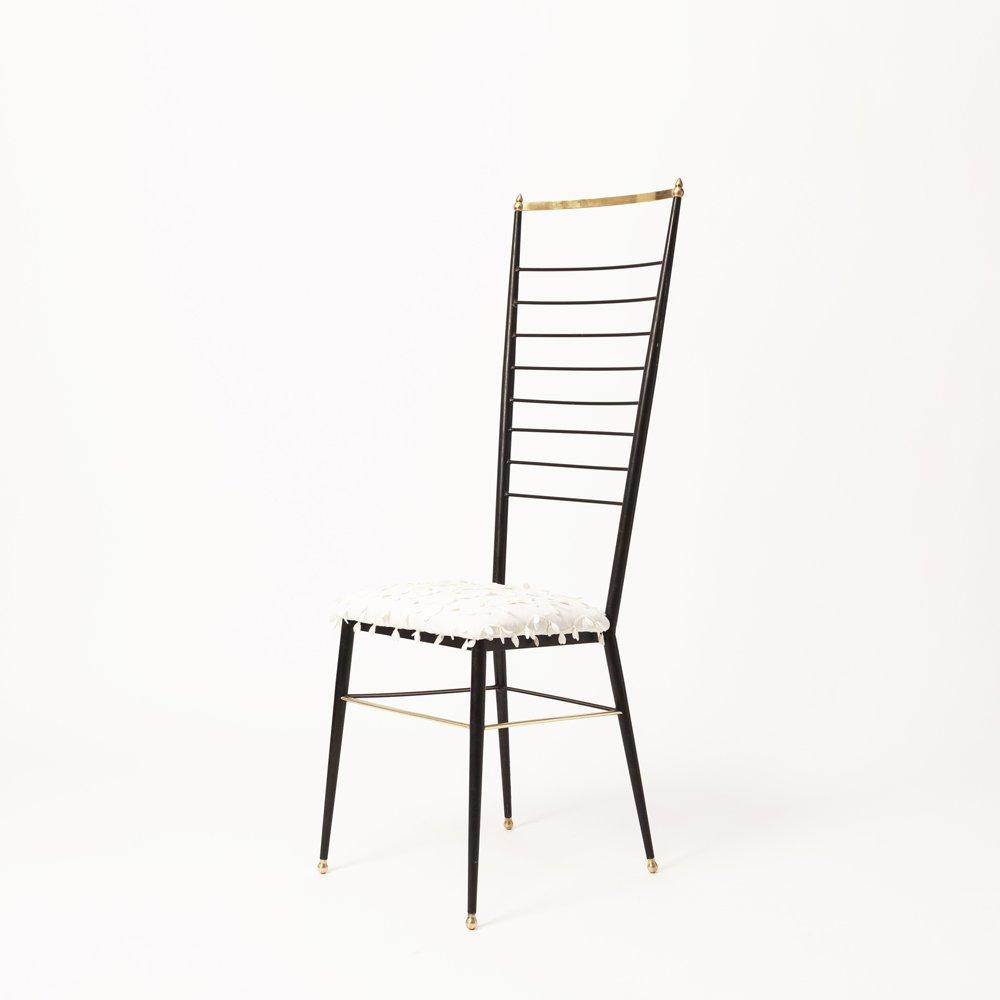 Sedia con schienale alto di gastone rinaldi anni 39 50 in for Sedia anni 50 design