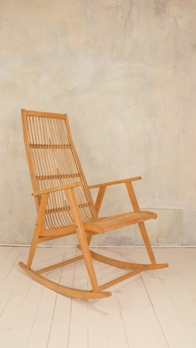 Vintage schaukelstuhl aus bambus 1950er bei pamono kaufen for Schaukelstuhl bambus