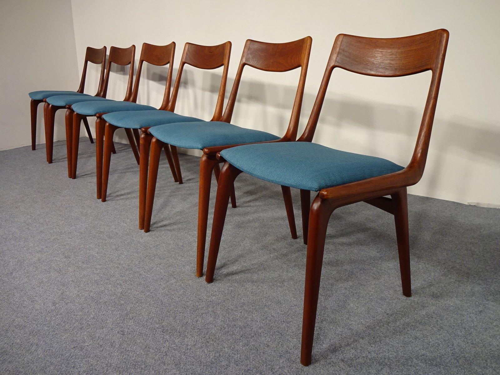 Charming Vintage Boomerang Dining Chairs By Alfred Christensen For Slagelse  Møbelværk, Set Of 6