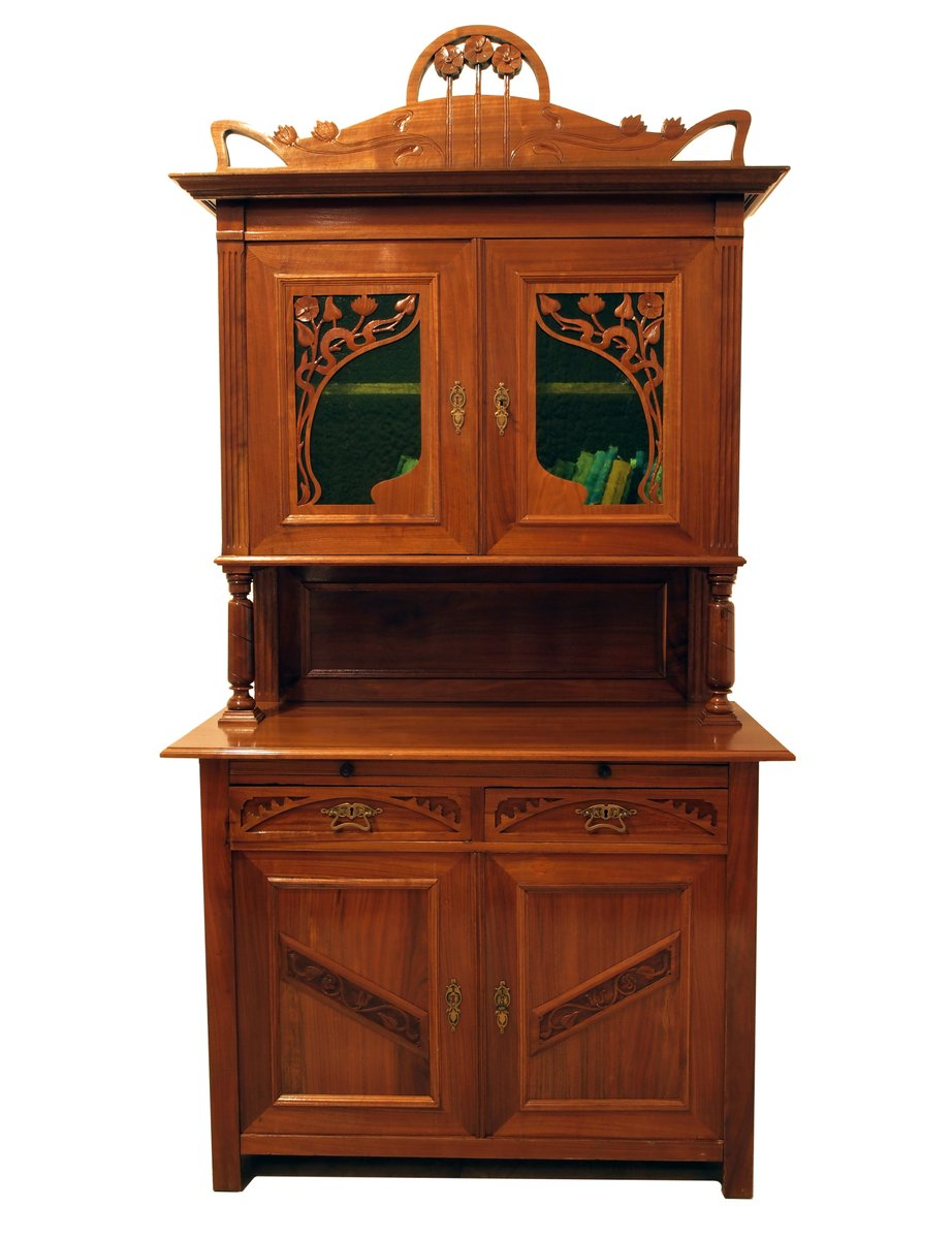 antique french art nouveau buffet for sale at pamono. Black Bedroom Furniture Sets. Home Design Ideas