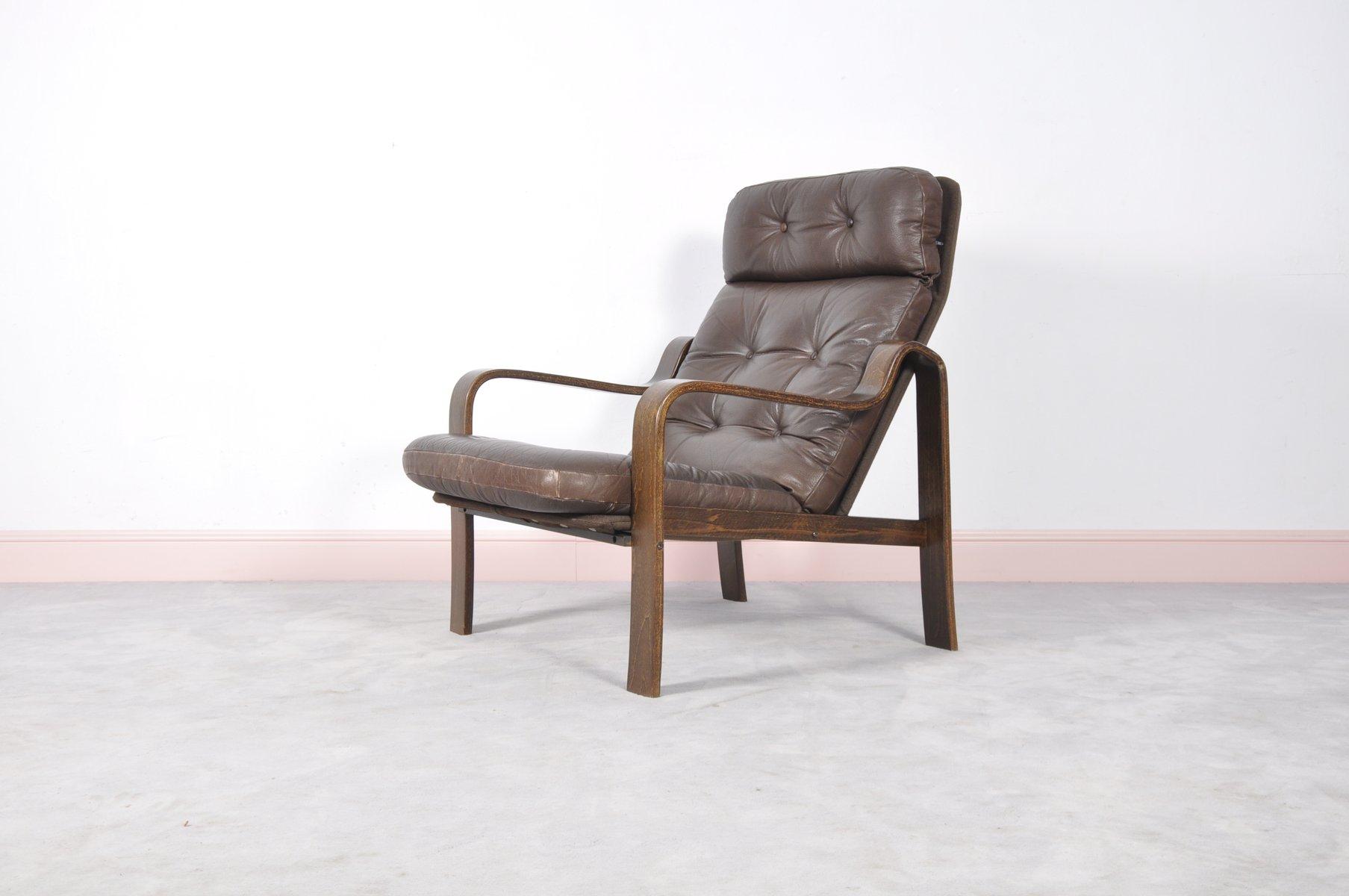 mid century sessel aus palisander leder bugholz bei pamono kaufen. Black Bedroom Furniture Sets. Home Design Ideas