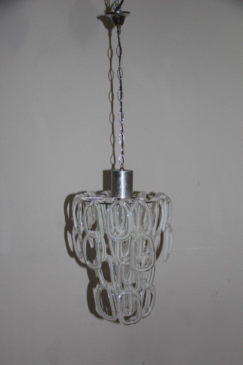 kronleuchter aus murano glas von angelo mangiarotti 1970er bei pamono kaufen. Black Bedroom Furniture Sets. Home Design Ideas