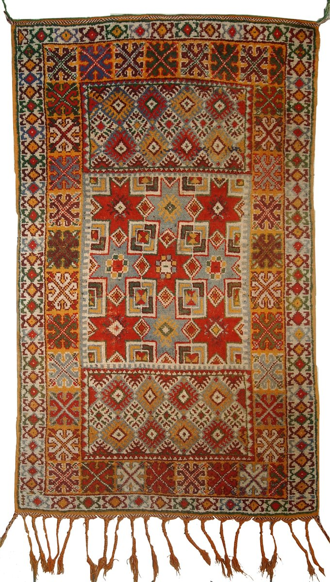 antiker handgemachter marokkanischer berber teppich 1900er bei pamono kaufen. Black Bedroom Furniture Sets. Home Design Ideas