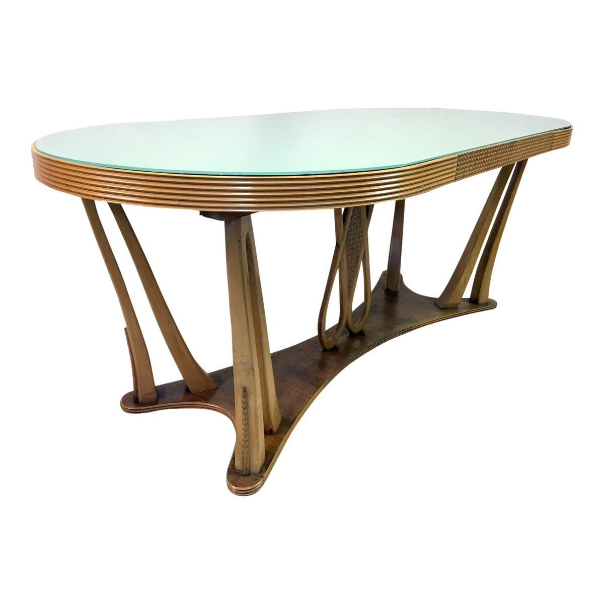 Vintage italian dining table with glass top 1940s for sale at pamono reviewsmspy