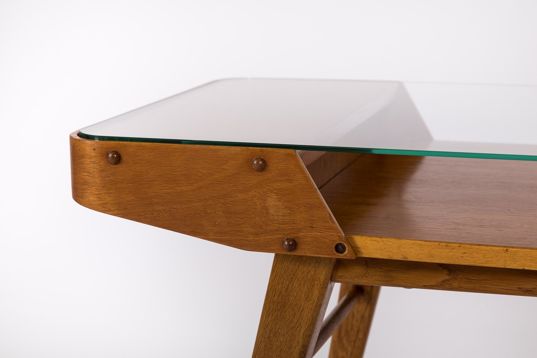 Mid Century Czech Glass Top Coffee Table From Interier Praha Nice Design