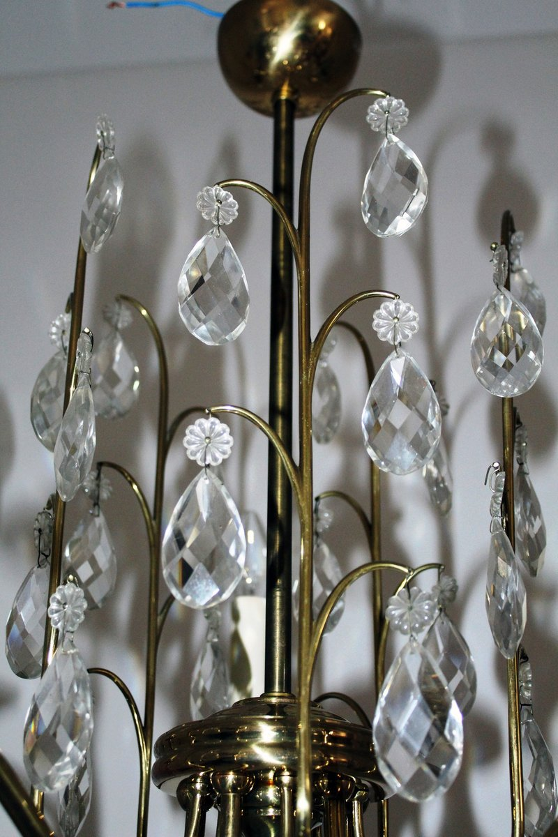 Crystal chandelier 1950s for sale at pamono crystal chandelier 1950s mozeypictures Choice Image