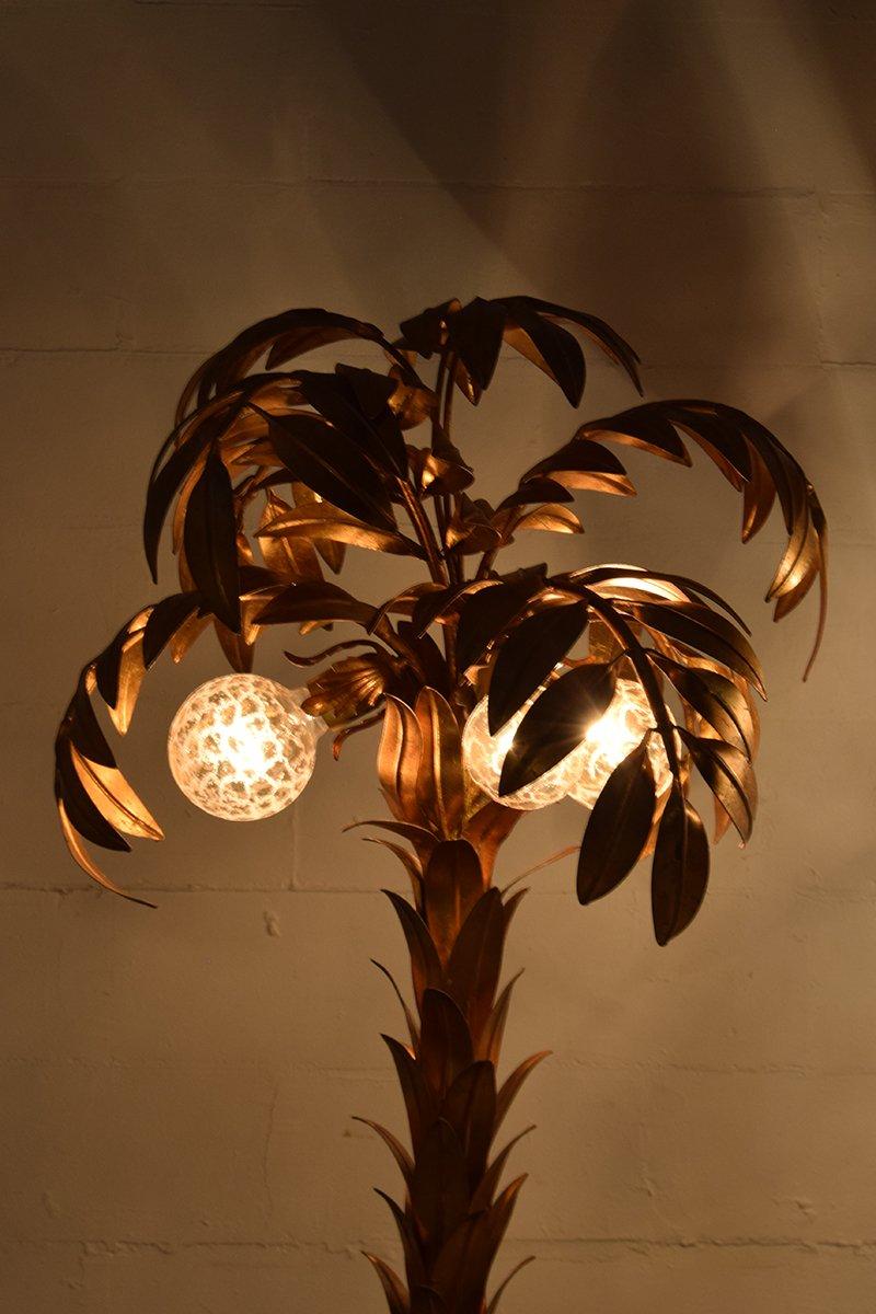 vergoldete vintage palmen lampen von hans k gl 2er set bei pamono kaufen. Black Bedroom Furniture Sets. Home Design Ideas