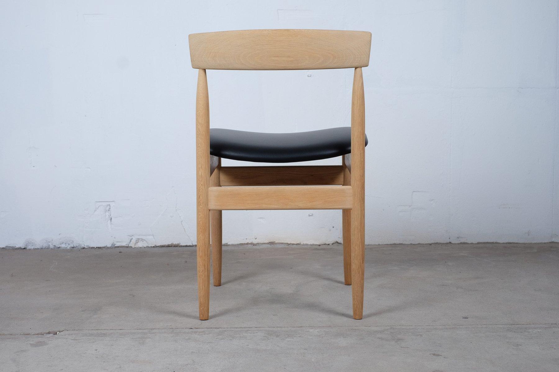 d nische mid century esszimmerst hle aus eiche 4er set. Black Bedroom Furniture Sets. Home Design Ideas