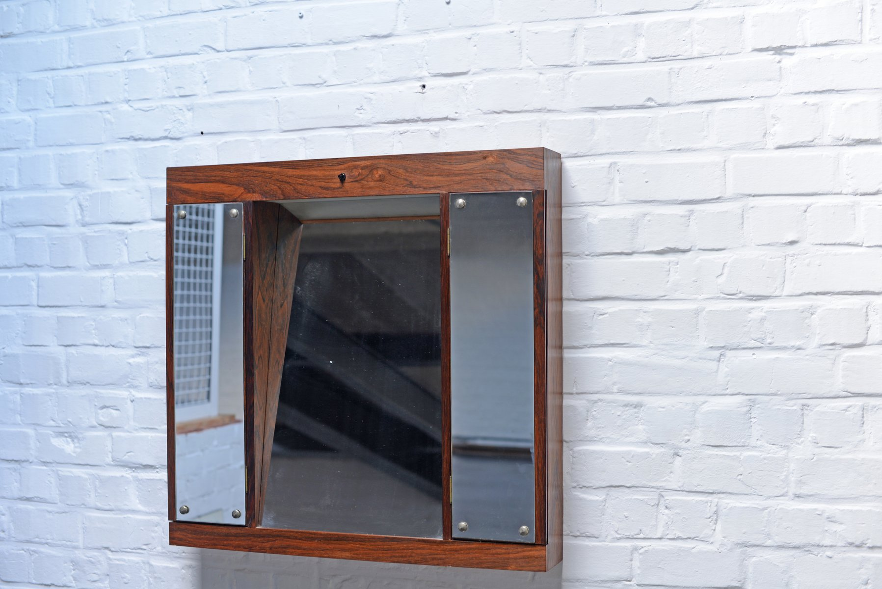 Danish Rosewood Vanity Wall Mirror with Two Doors 1960s for sale at Pamono & Danish Rosewood Vanity Wall Mirror with Two Doors 1960s for sale ...