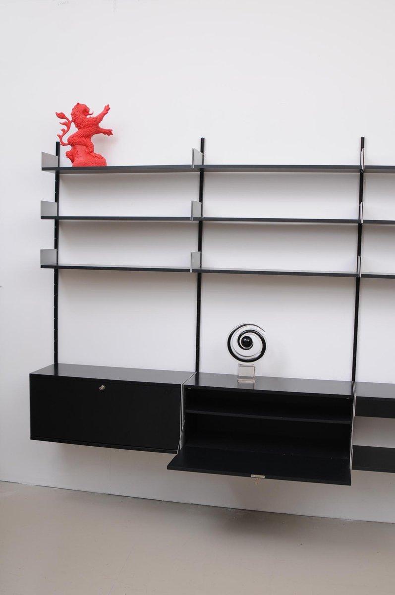 schwarzes vintage 606 regalsystem von dieter rams f r. Black Bedroom Furniture Sets. Home Design Ideas