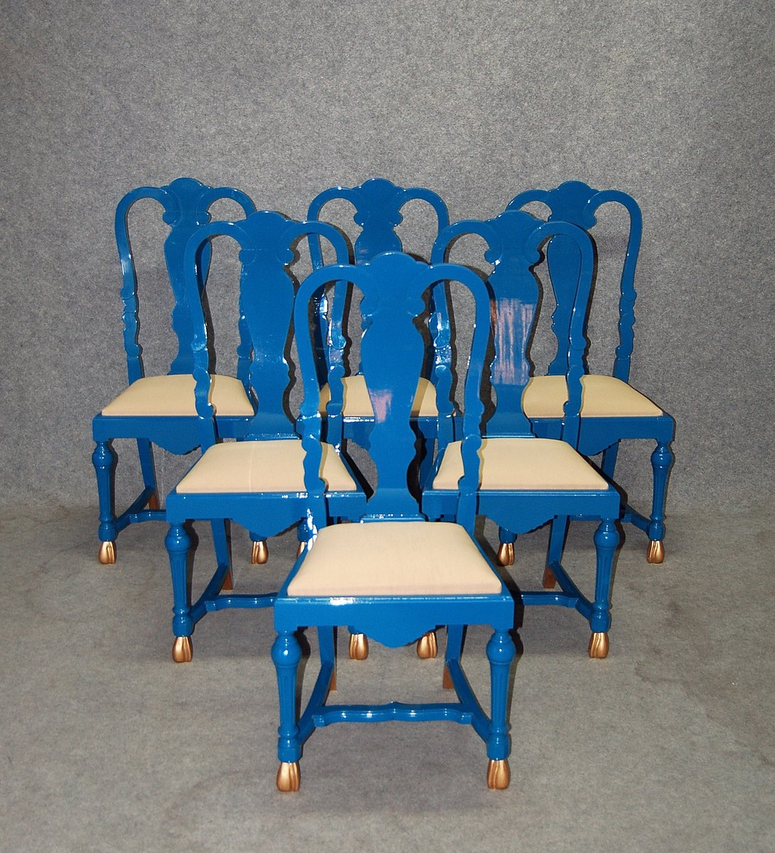 vintage st hle von jean claude mahey 6er set bei pamono kaufen. Black Bedroom Furniture Sets. Home Design Ideas