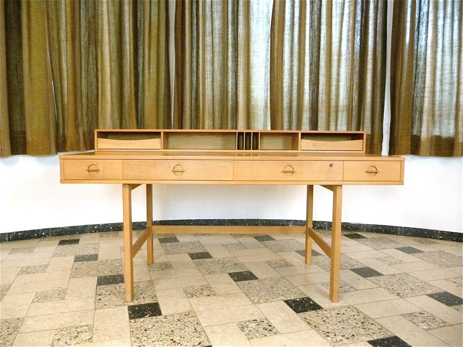 Danish Flip Top Partner Desk By Jens Quistgaard For Løvig 1960s At Pamono
