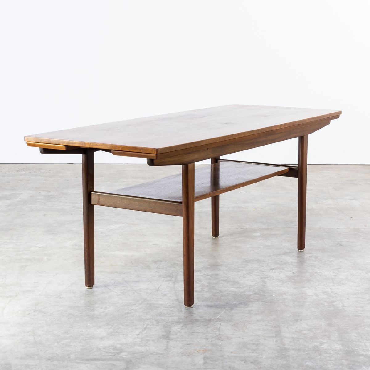 teak extendable coffee table 1960s for sale at pamono. Black Bedroom Furniture Sets. Home Design Ideas