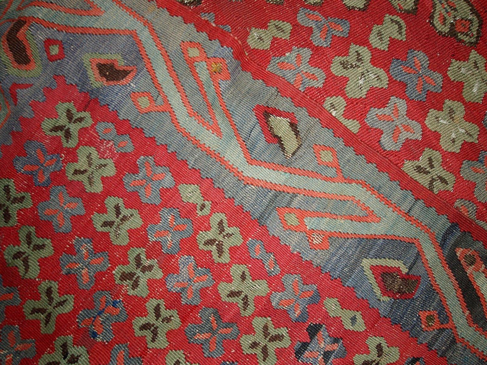 antiker handgefertigter t rkischer oushak kilim teppich 1880er bei pamono kaufen. Black Bedroom Furniture Sets. Home Design Ideas