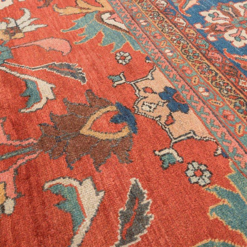 sultanabad teppich in rot blau gr n und gelb 19 jh. Black Bedroom Furniture Sets. Home Design Ideas