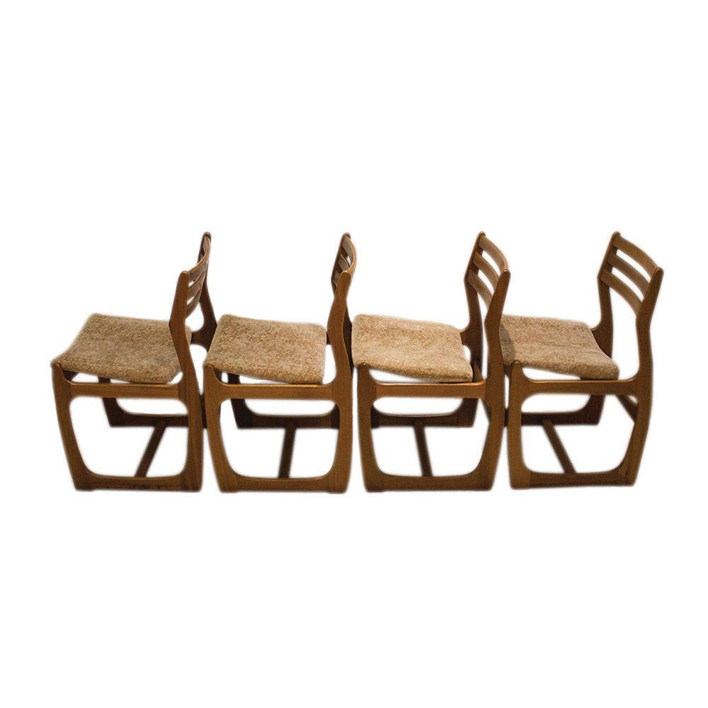 Danish range teak dining chairs from portwood 1960s set of 4