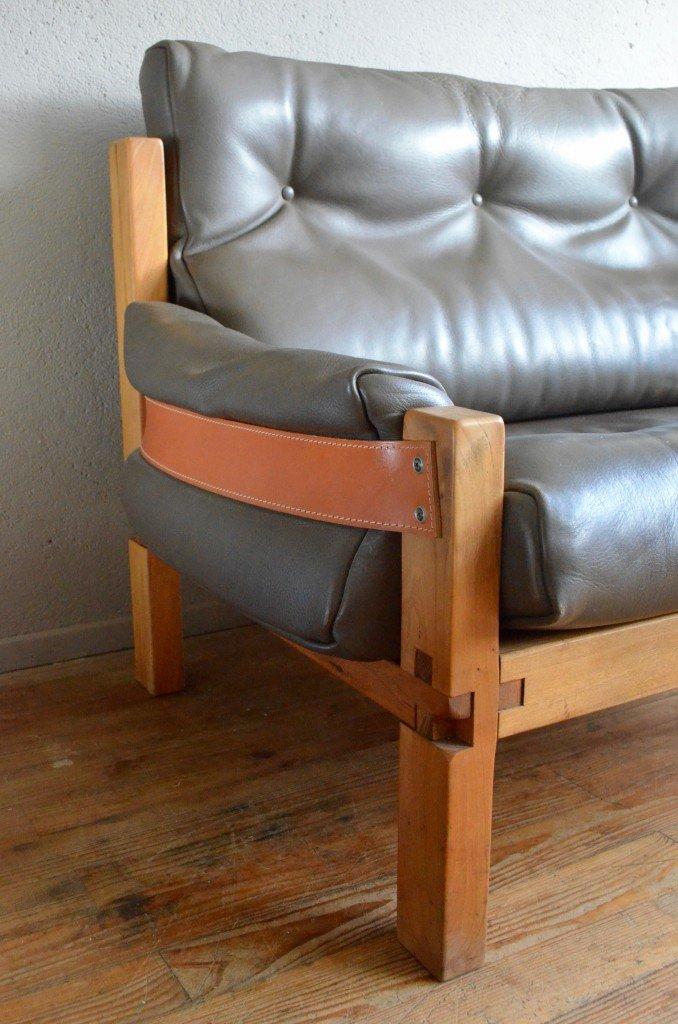 s22 sofa ottomane von pierre chapo 1970er bei pamono kaufen. Black Bedroom Furniture Sets. Home Design Ideas