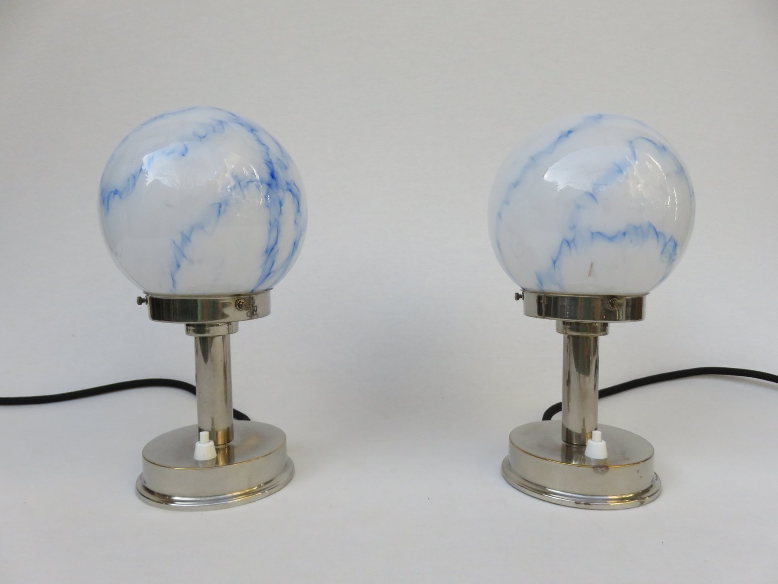 Lovely Vintage Small Art Deco Table Lamps From FM, Set Of 2