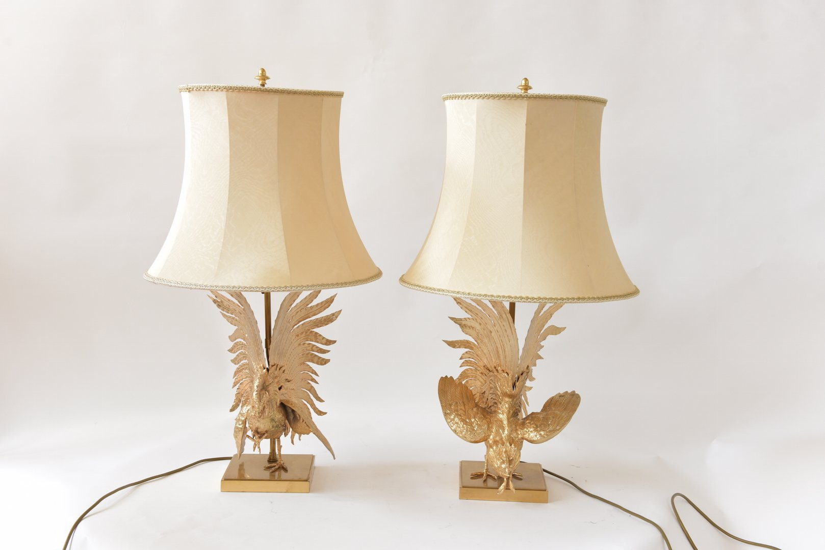 Vintage Gaulois Coqs Table Lamps, Set Of 2 For Sale At Pamono