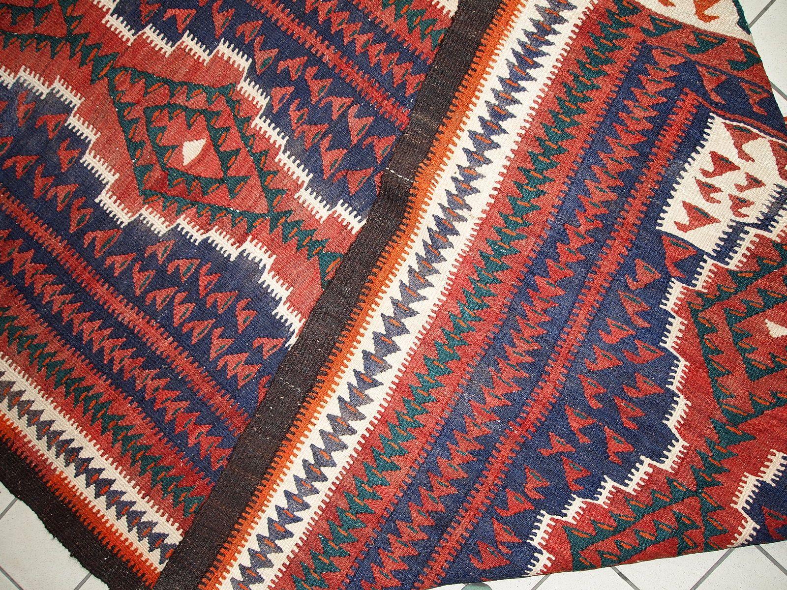 handgemachter persischer vintage gashkai kilim teppich 1960er bei pamono kaufen. Black Bedroom Furniture Sets. Home Design Ideas