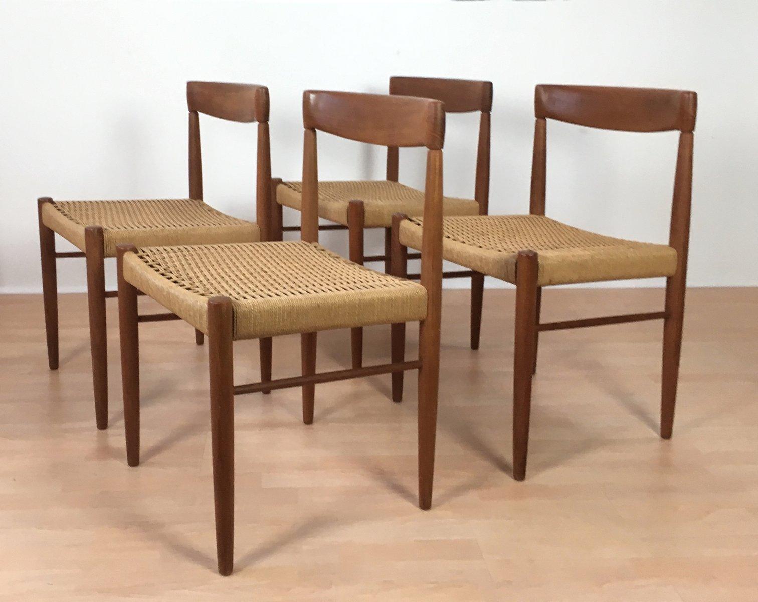 d nische st hle von h w klein f r bramin 1960er 4er set. Black Bedroom Furniture Sets. Home Design Ideas