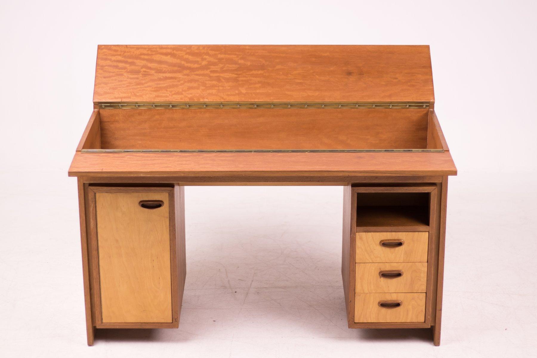 niederl ndischer mid century modern schreibtisch aus teak 1952 bei pamono kaufen. Black Bedroom Furniture Sets. Home Design Ideas