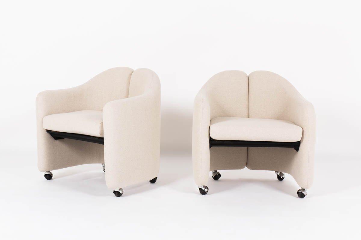 Italienische sessel von eugenio gerli f r tecno 1966 2er for Italienische sessel design
