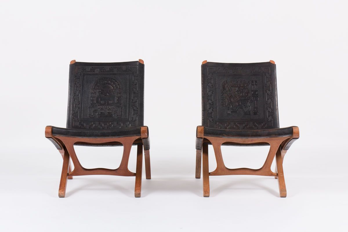 Lounge Chairs by Angel I Pazmino for Muebles de Estilo, 1960, Set of ...