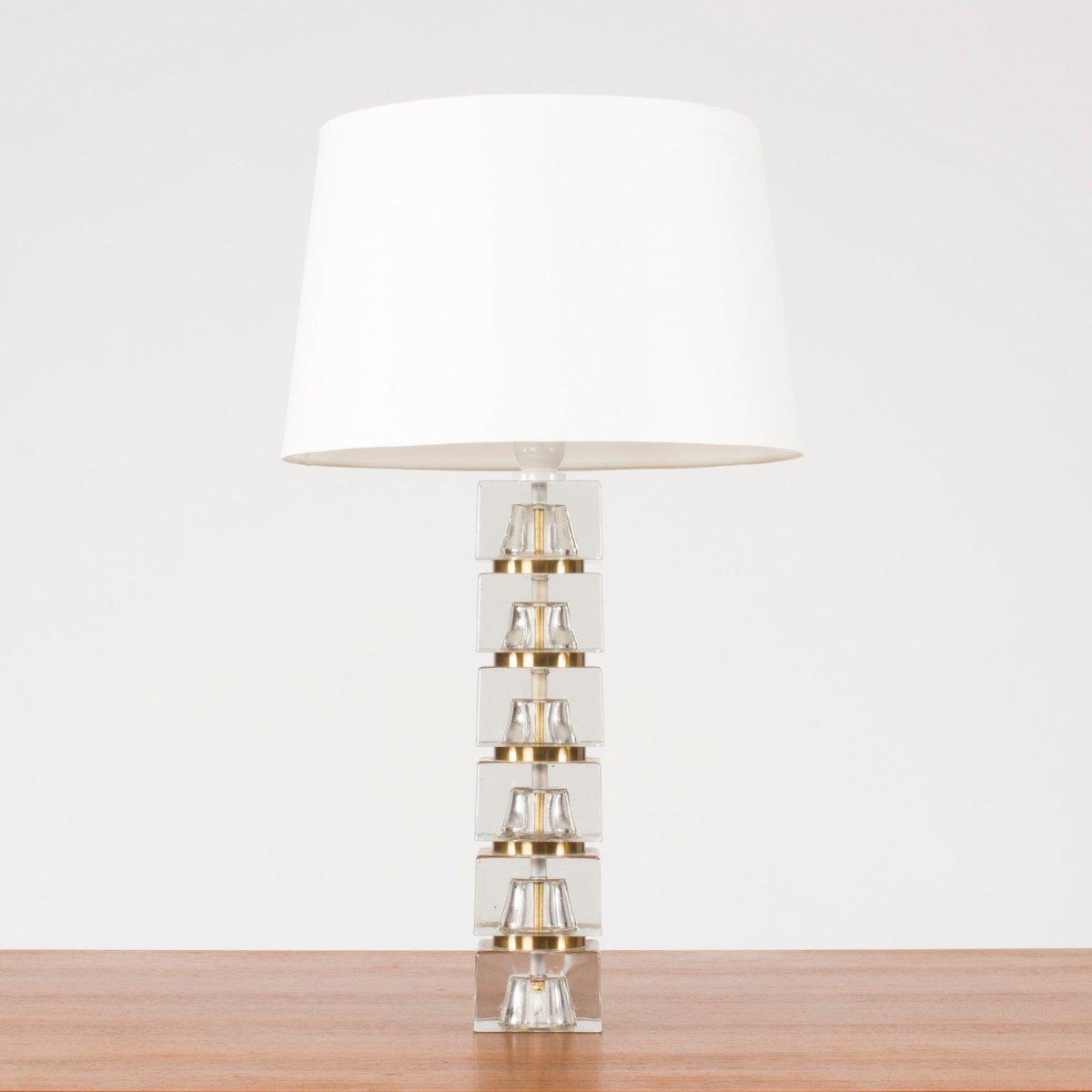 Lampe Mit Glasfuß : schwedische tischlampe mit glasfu 1960er bei pamono kaufen ~ Indierocktalk.com Haus und Dekorationen