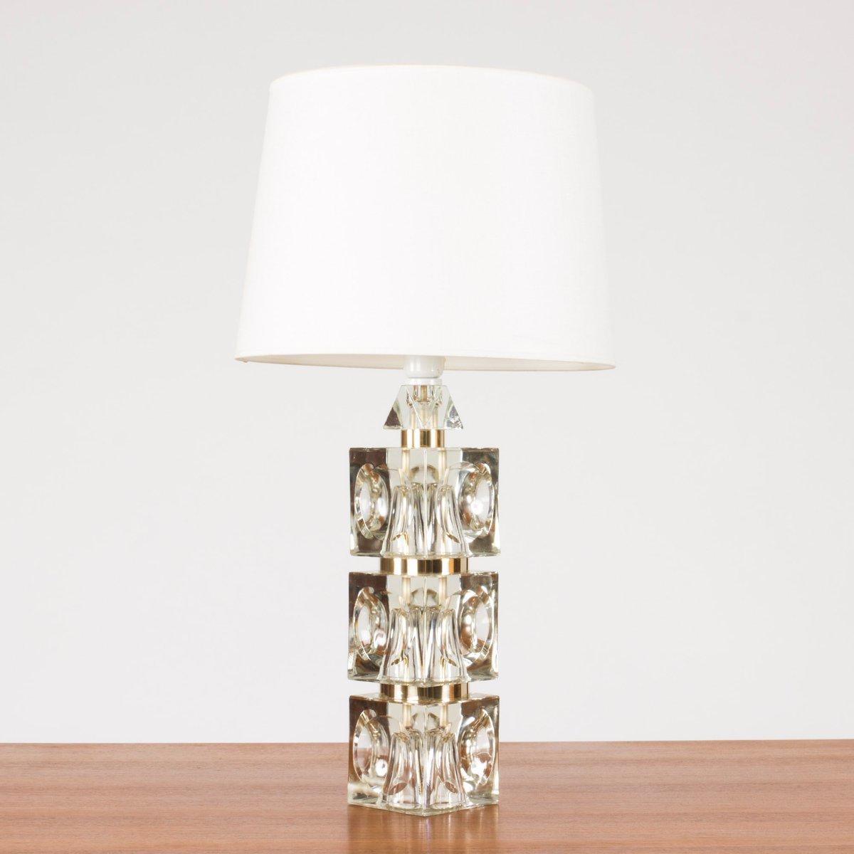 Swedish Glass Base Table Lamp, 1960s 7. U20ac1,250.00