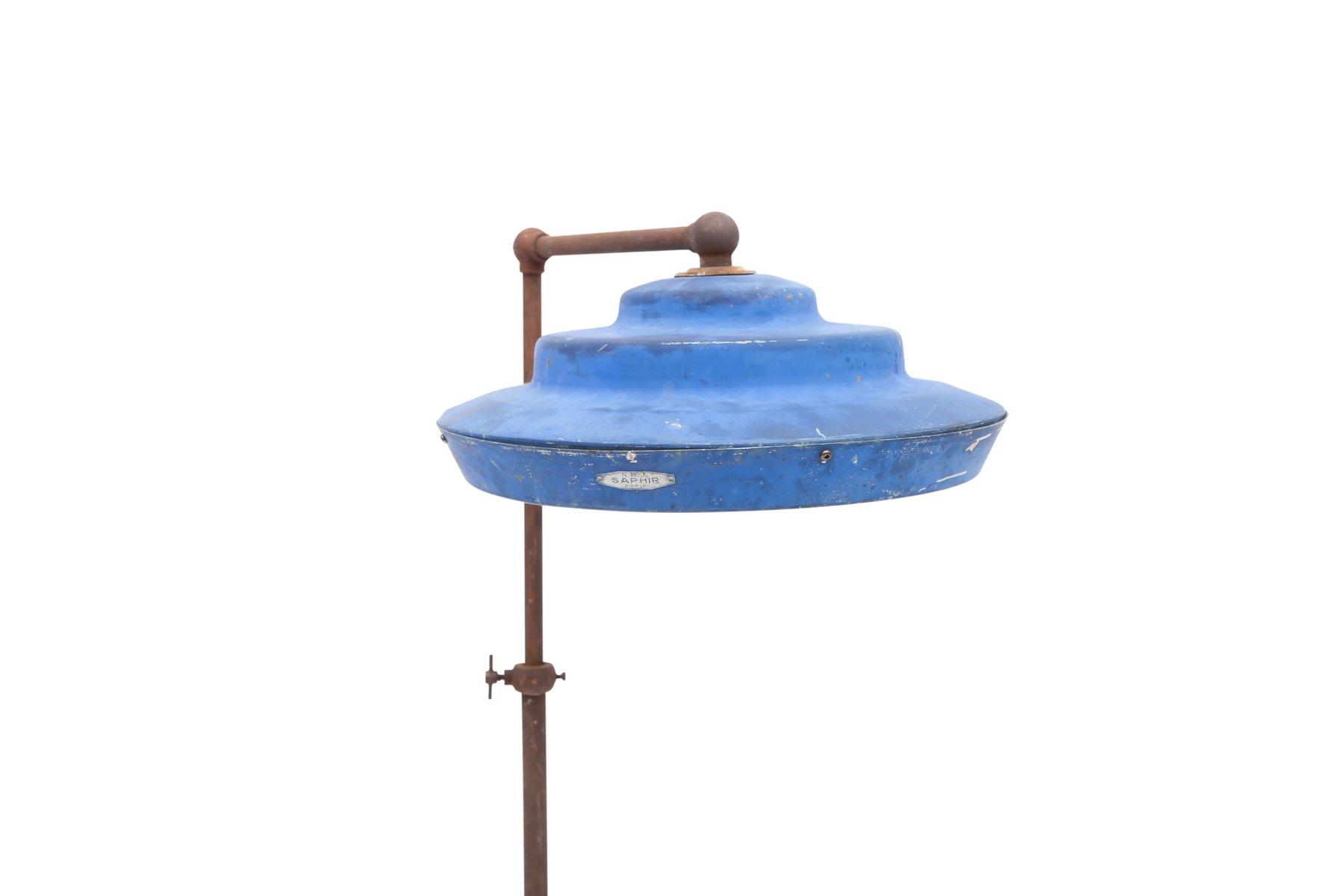 antique industrial floor lamp from saphir paris for sale at pamono. Black Bedroom Furniture Sets. Home Design Ideas