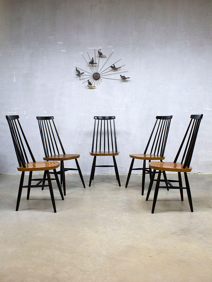 Chaises de salle manger mademoiselle vintage avec for Chaise salle a manger dossier bas