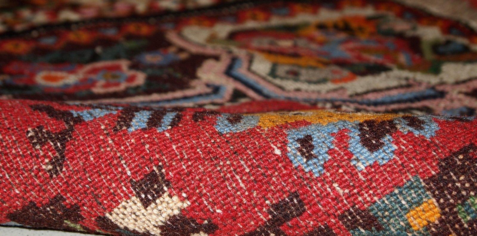 hangefertigter persischer vintage bakhtiari teppich. Black Bedroom Furniture Sets. Home Design Ideas