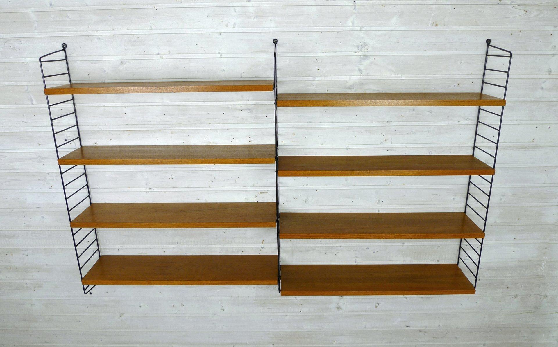 Wand Regale schwedisches wand regal system aus teak nisse strinning für