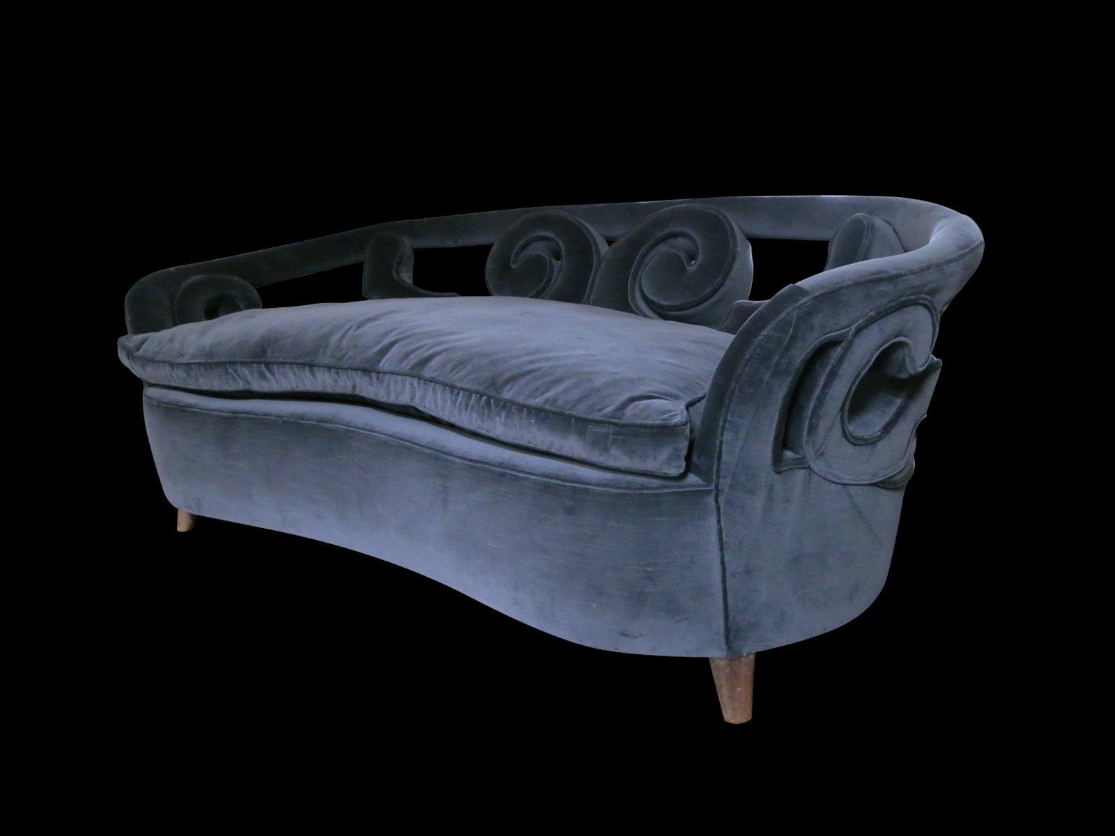 italienisches mid century zwei sitzer sofa mit geschwungener r ckenlehne bei pamono kaufen. Black Bedroom Furniture Sets. Home Design Ideas