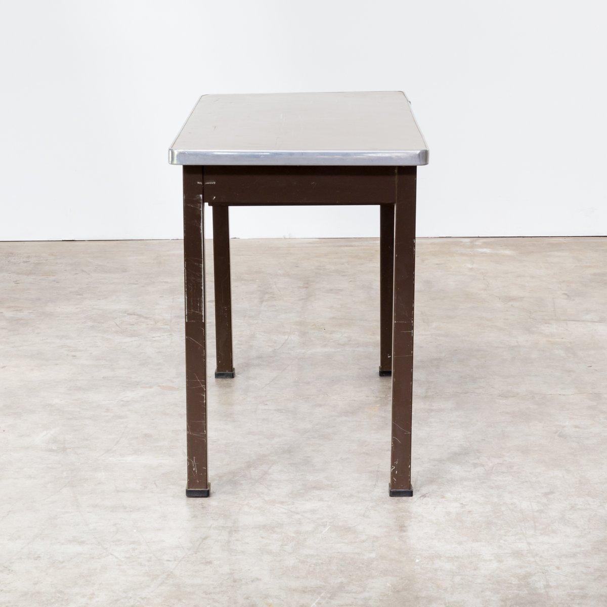 Schreibtisch aus festem metall von strong steel 1970er for Schreibtisch 2 meter lang