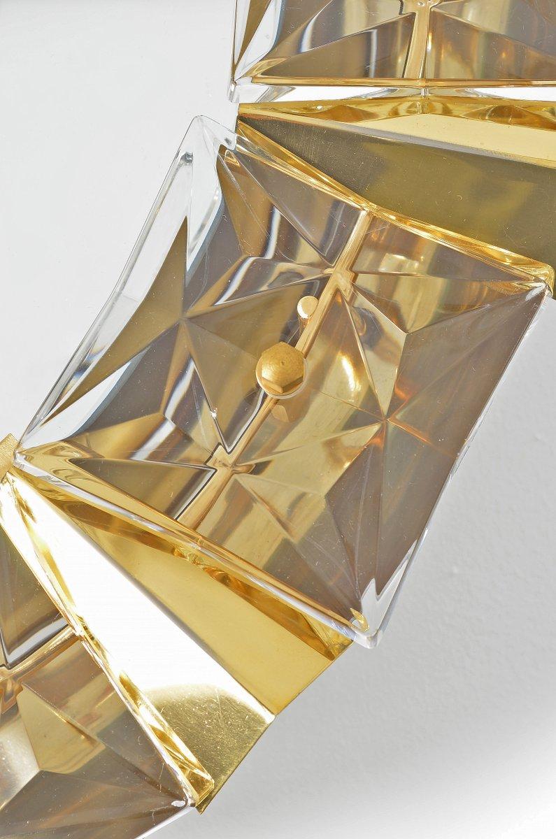 beleuchteter spiegel aus glas vergoldetem messing von kinkeldey 1970er bei pamono kaufen. Black Bedroom Furniture Sets. Home Design Ideas