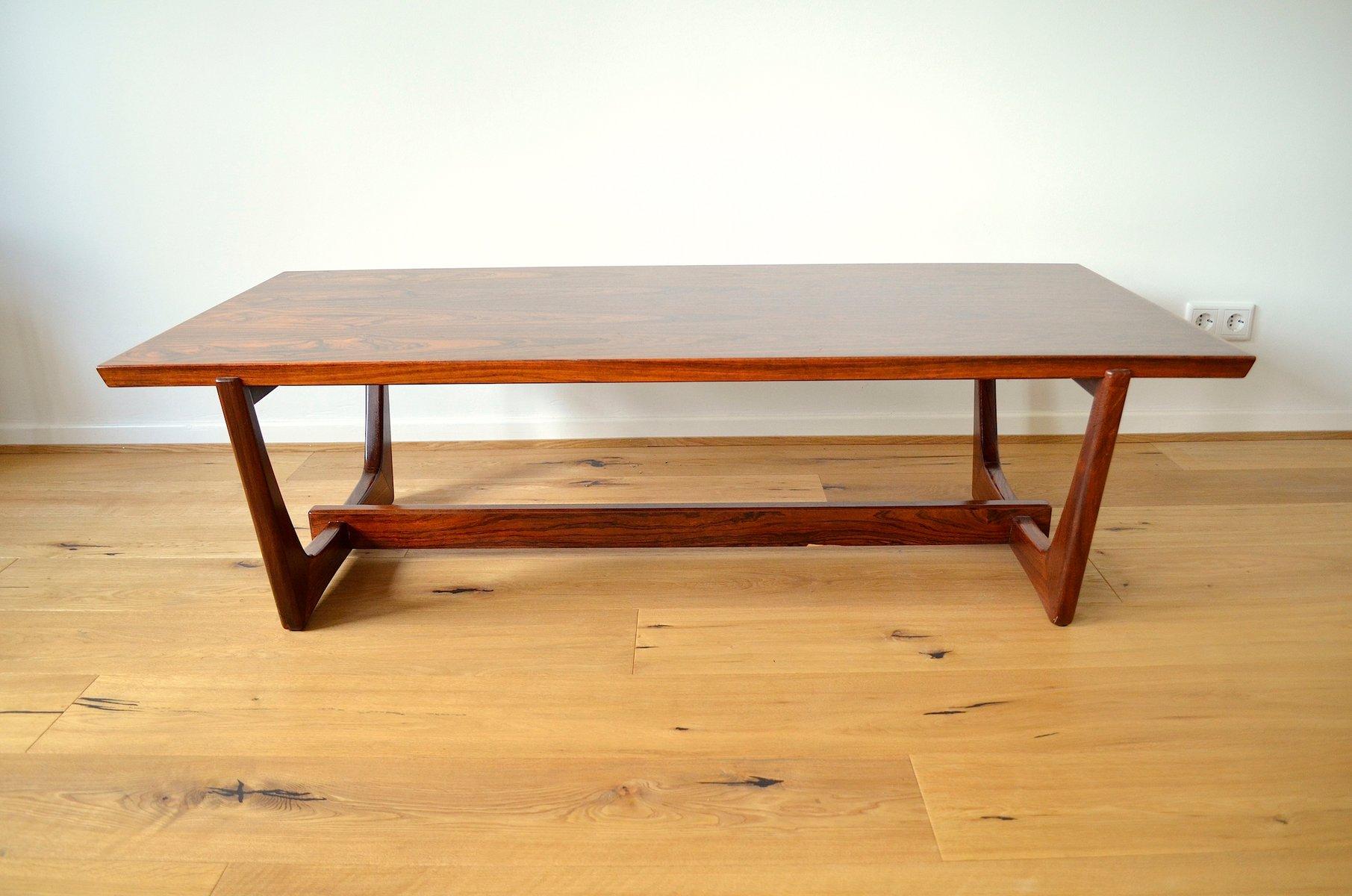 skandinavischer rio palisander furnier couchtisch 1960er. Black Bedroom Furniture Sets. Home Design Ideas