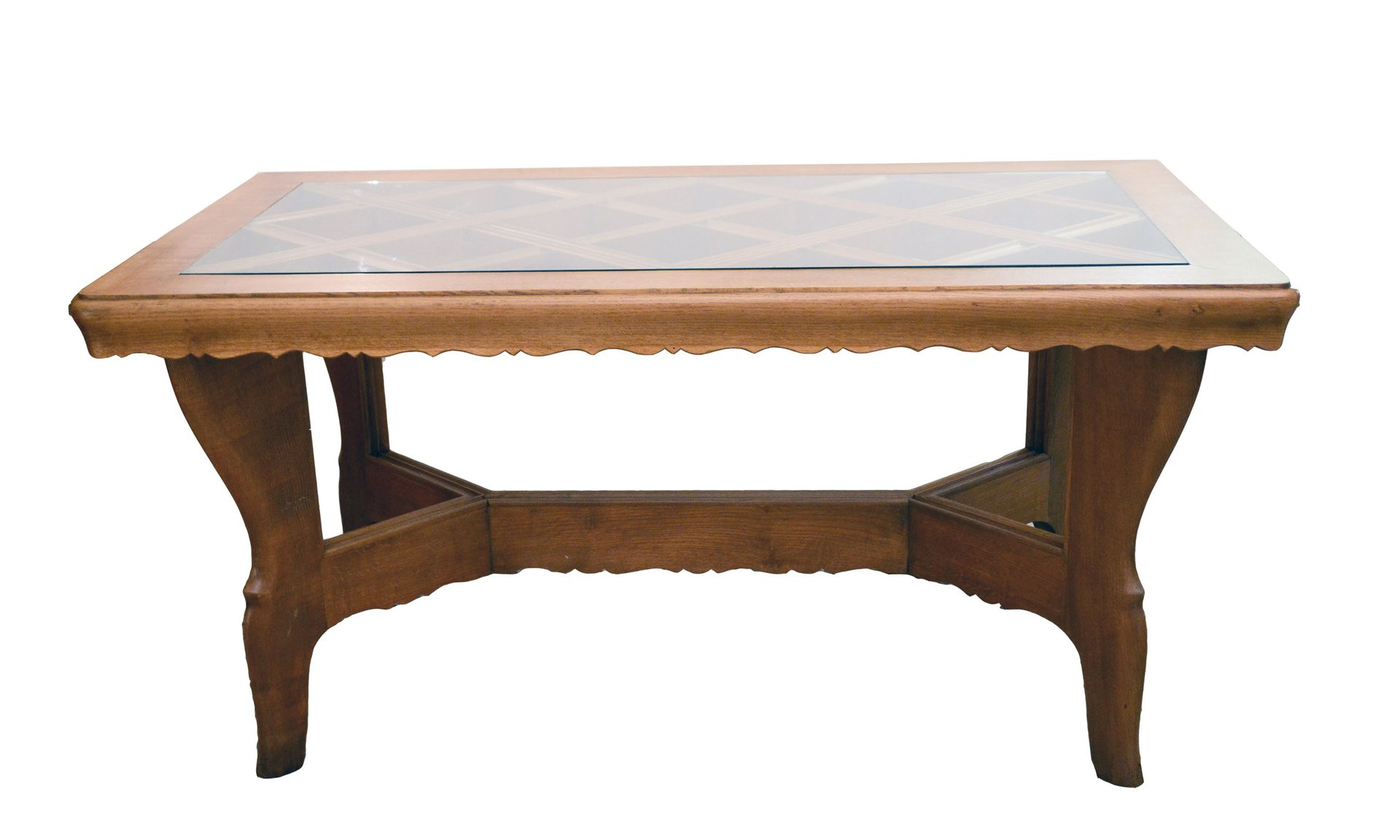 Handmade Solid Oak Table From Atelier Borsani, 1940s For Sale At Pamono