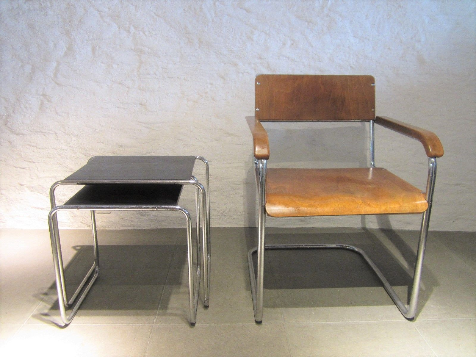 deutsche vintage b34 freischwinger von marcel breuer 2er set bei pamono kaufen. Black Bedroom Furniture Sets. Home Design Ideas