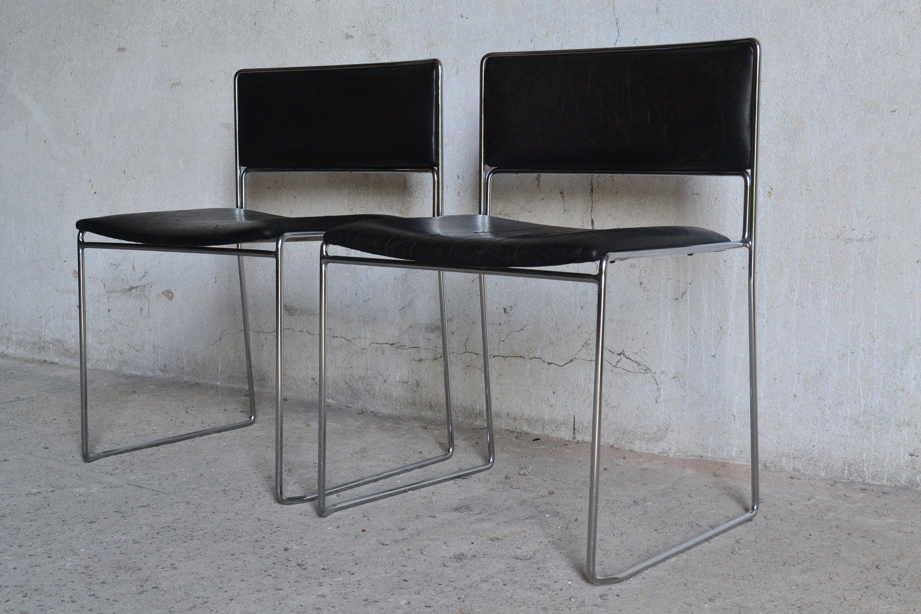 Vintage German Desk Chairs By Preben Fabricius Jørgen Kastholm For Kill International Set Of 2