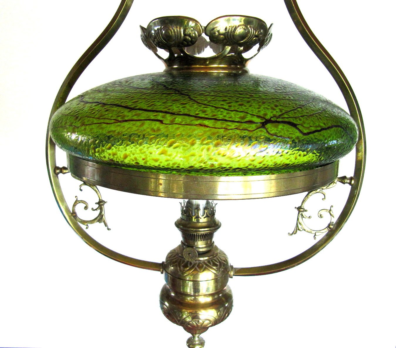 antique austrian art nouveau lamp with glass shade for sale at pamono. Black Bedroom Furniture Sets. Home Design Ideas