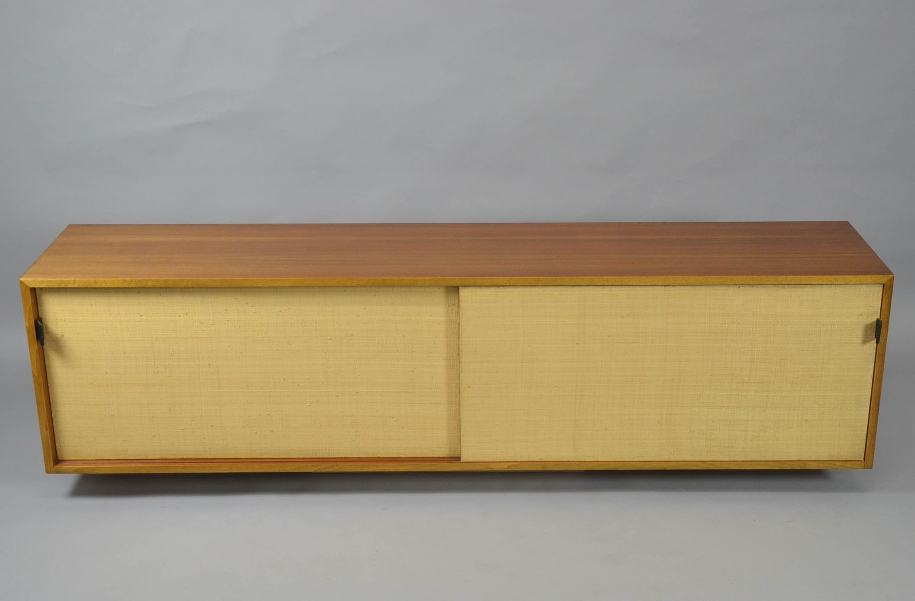 Exceptional Vintage Hanging Cabinet With Sliding Doors By Florence Knoll For Knoll